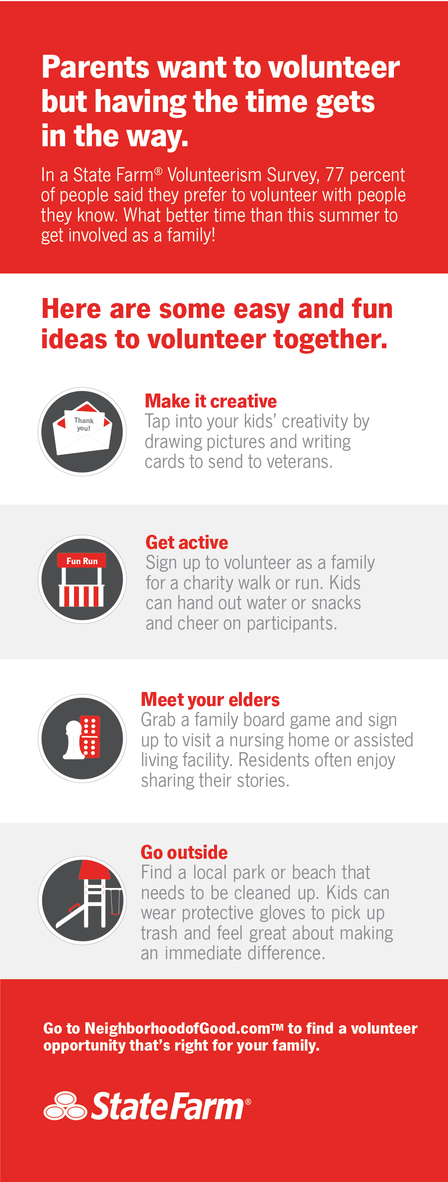 family volunteering survey generates ideas